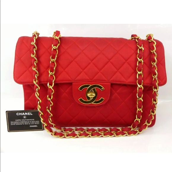 0f7f8091462368 CHANEL Bags | Vintage Red Satan Classic Canvas Maxi Bag | Poshmark